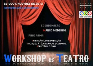Cartaz workshop de teatro CCD