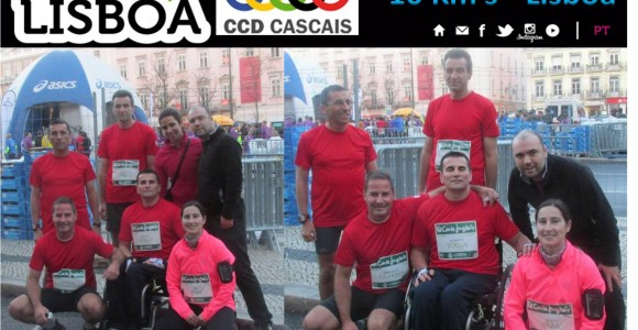 Equipa de Atletismo do CCD Cascais, em São Silvestre Lisboa