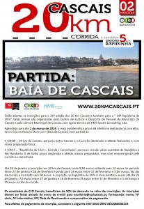 Inscrições Associados CCD - 20 Km Cascais 2014