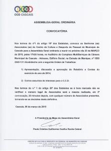 Convocatória Assembleia-geral CCD