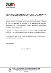 Comunicação Comissão Eleitoral.