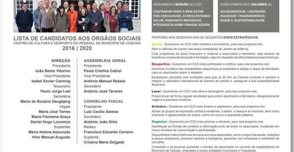 Eleições CCD Cascais – 14 janeiro 2016