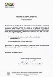 CONVOCATORIA ASSEMBLEIA-GERAL