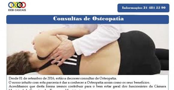 Consultas de Osteopatia – Novos horários a partir de Novembro 2016