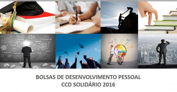 BOLSAS DESENVOLVIMENTO PESSOAL CCD SOLIDÁRIO 2016